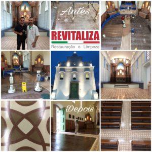 Restauração piso Igreja do Rosario Prainha Vila Velha revitaliza